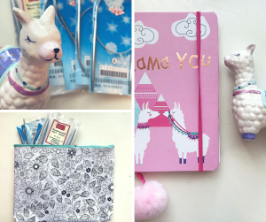 present for MASTER CRAFTER notebook needle case llama