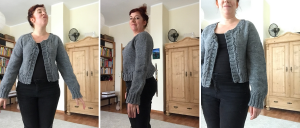 woman wearing miette knitted cardigan