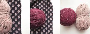 tweed yarn and fabric
